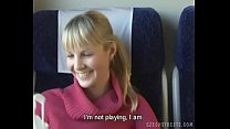 Czech streets Blonde girl in train thumb