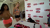 GIRLS GONE WILD - Young Latin Babe Serena Santons Plays With A Purple Dildo