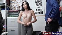 A female thief banged by store officer