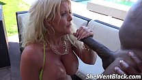 Big Tit MILF Anal Fucked by Black Cock by the Pool video