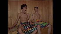 2 boys in sauna