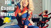 Joi Portugues Cosplay Capita Marvel SEX MACHINE...