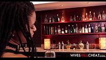 Hot Black Wife Kira Noir Cheats On Husband In Restroom Of The Bar They Own Together