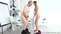 Tricky Old Teacher - Student Paris Devine fucked by old teacher thumbnail