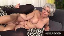 Libidinous Grandma Kelly Leigh Takes His Long Cock Hard and Deep thumbnail