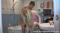 Blonde Amber Daikiri, Krystal Boyd DPed at home sex party & Youjkizz thumbnail