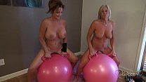 Deauxma And Payton In Big Bouncing Balls