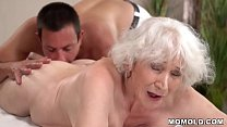 Old mom Norma enjoys sex after massage porn image