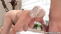 Old mom Norma enjoys sex after massage preview image