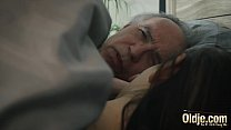Old and Young Horny young girl seduces grandpa and gets his cock inside her thumbnail