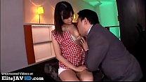 Japanese young secretary fucked by horny boss