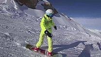 4K Public cumshot on mouth in ski lift Part 1, 2 thumb