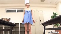 Asian chef with long nails blows the dude's cock off - 9Club.Top
