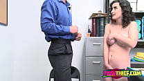 Security guard fucks a hairy pussy preview image