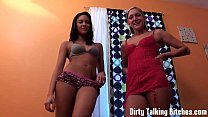 Stroke your cock to our perky asses JOI thumbnail