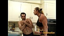 Angry dominatrix with big muscles hurts her husband really bad-6 preview image