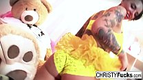 Sexy Christy Mack dresses up for Halloween then...