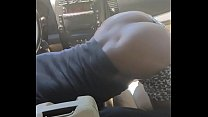Black Slut Keeps Dick in her Mouth While Shaking Her Ass In Car