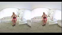 vrpornjack.com - Hot blonde strips for you in virtual reality