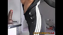 Awesome Babe with Handsome Body in Tight Outfit Showing at www.chaturbate.la