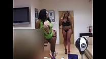 Amazing well shaped black girls throats white dick in the office