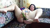Anal And Vaginal Organic Masturbation With Vege