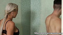 Young dude receives an unforgettable massage from busty MILF