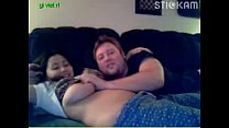 chubby asian teen gives a webcam show with her boyfriend image