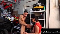 Massive Titty BBW Angelina Castro Sucks Off Hard Mechanic! thumbnail