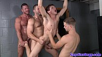 Prison orgy baton in Johnny Rapids ass porn image