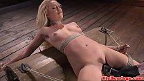 Blonde bdsm sub punished with vibrator toying صورة