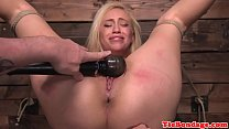 Blonde bdsm sub punished with vibrator toying video