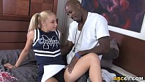 Petite Blonde Alyssa Wants To Try Big Black Cock's Thumb