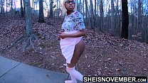Me And My Mom Husband Sneak Away To Fuck In The Forest While My Mother Is At Home, Innocent Ebony Step Daughter Msnovember Fucking Her Father Inlaw In Secrete Reality Fauxcest, Ebonyride Outside Cowgirl  on Sheisnovember preview image