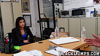 Cute young Latina sucks and rides a BBC in a job interview
