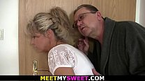 Old mom and dad tricks her into 3some's Thumb