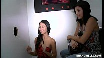 Brandi Belle and Amia Miley go to a Glory Hole porn image
