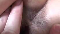 My wife is asleep while I examine her ass and pussy. Close up. Big ass! Big hairy pussy!