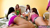 Cute teen (Brooklyn Lee, Lexi Belle) have fun at The Sleepover - Twistys