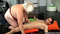 Blonde bbw sex after photosession