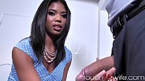 Pastor Lets Shy Ebony Wife Get Stretched Out By
