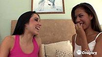 Ariana Fox Sticks Her Tongue Inside Lola Foxx's...'s Thumb