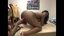 Big booty black sluts tease each other's cunt with various sex toys