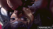 6285 PORNFIDELITY Ebony Babe Ana Foxxx Creampied by White Dick preview