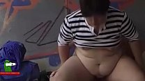 The fat girl and her boy can fuck in any place. SAN273