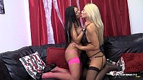Two beautiful busty lesbians masturbating & licking pussy preview image
