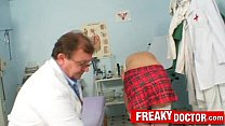 Old pussy doctor treats a school girl Rachel Evans image