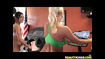 Molly Cavalli and her girl getting nasty at the gym