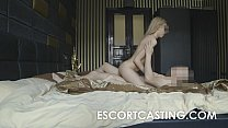Skinny Blonde Teen Escort Anal Casting video