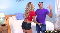 Nikki Capone sucking on the babysitters big thi...